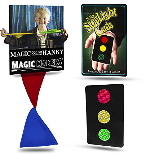 Magic Makers Color Changing Hanky, Stop Light Cards and Magic Stick Mini Tricks ()