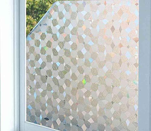 Robert Window sticker No Glue 3D Laser Electrostatic Glass Film Move Doors Windows Flower Paper Sunshade Window Stickers Opaque Glass Stickers,90x200cm(35.4〃x78.7〃)