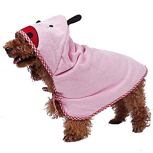 bouti1583 Microfiber Pet Bathrobe Dog Cat Animals Super Absorbent Bath Drying Towel by bouti1583 (Image #2)