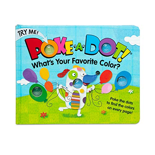 Melissa & Doug Children's Book - Poke-a-Dot: What's Your Favorite Color (Board Book with Buttons to Pop, Great Gift for Girls and Boys - Best for 3, 4, 5 Year Olds and Up)