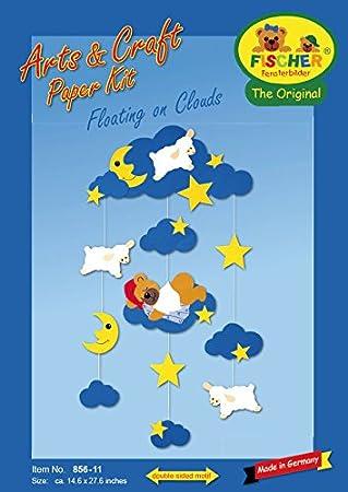 Fischer Fensterbilder /ÜBER DEN Wolken//Bastelpackung mit ENGLISCHER Anleitung//ca 37x70 cm//zum Selberbasteln//Basteln mit Pappe und Papier