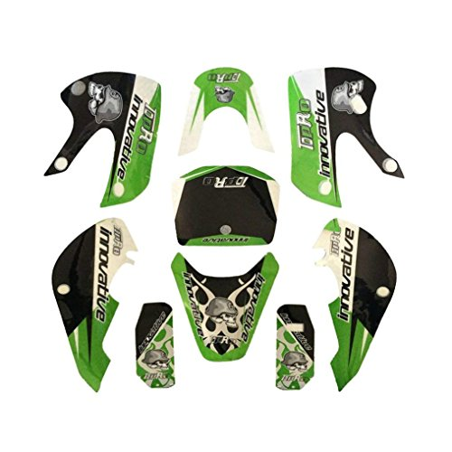 ZXTDR Motorcycle Sticker Decals For Kawasaki KLX Plastic Fenders Fairing Kit Body Parts (Green)
