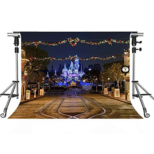 Cartoon Backdrop MEETSIOY 7x5ft Building Photography Background Themed Party Photo Booth YouTube Backdrop XCMT060