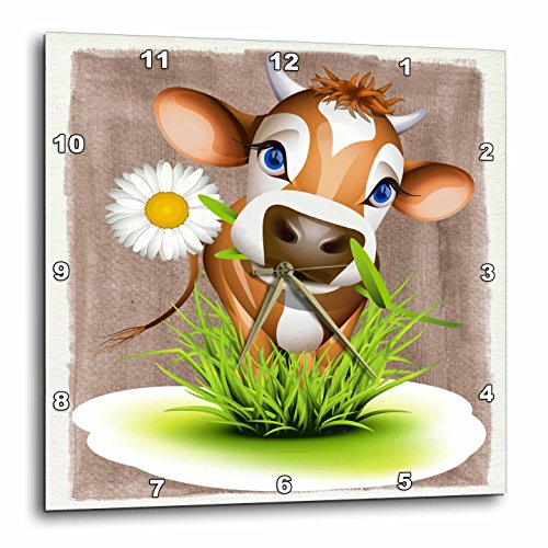 Jersey Cow in Grass-Wall Clock