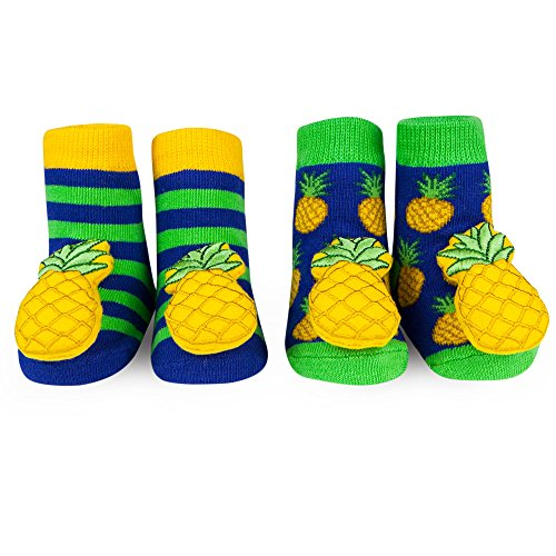 58160ae10bbe8 Waddle Rattle Socks Unisex Baby Socks Pineapple Rattle 0-12 Months Newborn  Gift