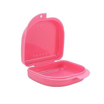 ULTNICE Boîte dentaire de récipient de prothèse avec des trous d'évent (rose)