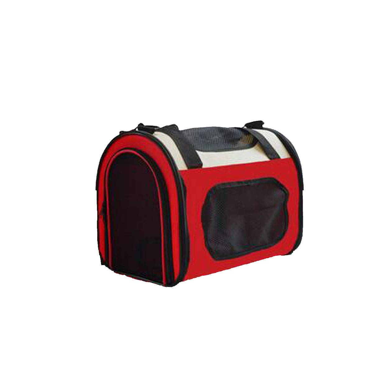 Red Portable pet Travel Backpack for Cats and Puppies, Suitable for Travel, Hiking, Outdoor Activities, Collapsible pet Diagonal Bags(Brown, Red) (color   Red)