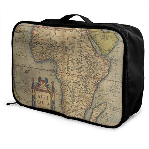Travel Bags Antique Old Africa Map Portable Handbag Fantastic Trolley Handle Luggage Bag