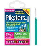 PIKSTERS  for cleaning between teeth Size 6 (Green) 40Pk