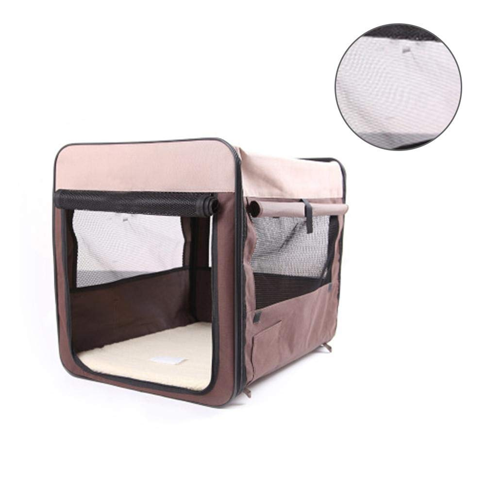 M molre-yan Pet Dog Travel Carrier Bag Folding Cat Puppy Transport Bag Breathable Pet Cage House with Mesh Windows for Indoor Outdoor Travel Use