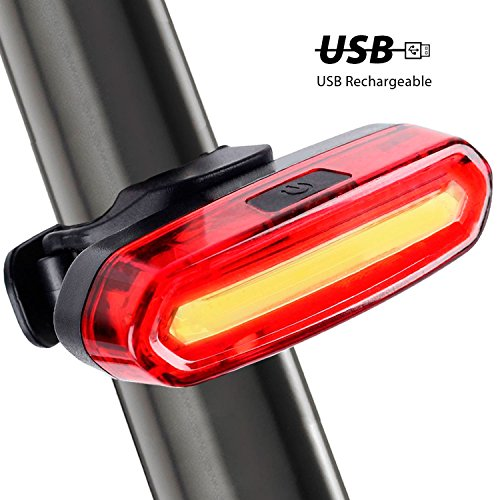 Waterproof 6Modes LED Tail Light USB Rechargeable COB FOR Bicycle Bike Rear