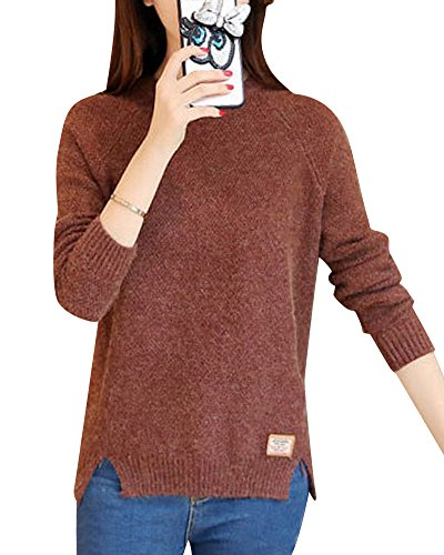 Maglione Maglione Maglione Gilet Maglia V Casual Pullover Caffè Asimmetrico Knitted Knitted Knitted Maniche Canotte a Senza Donna Scollo waAZx