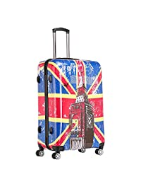 YUL Canada Brand Lightweight Hardside Spinner Luggage TSA Printing Collection (Big Ben, 28-inch Large)