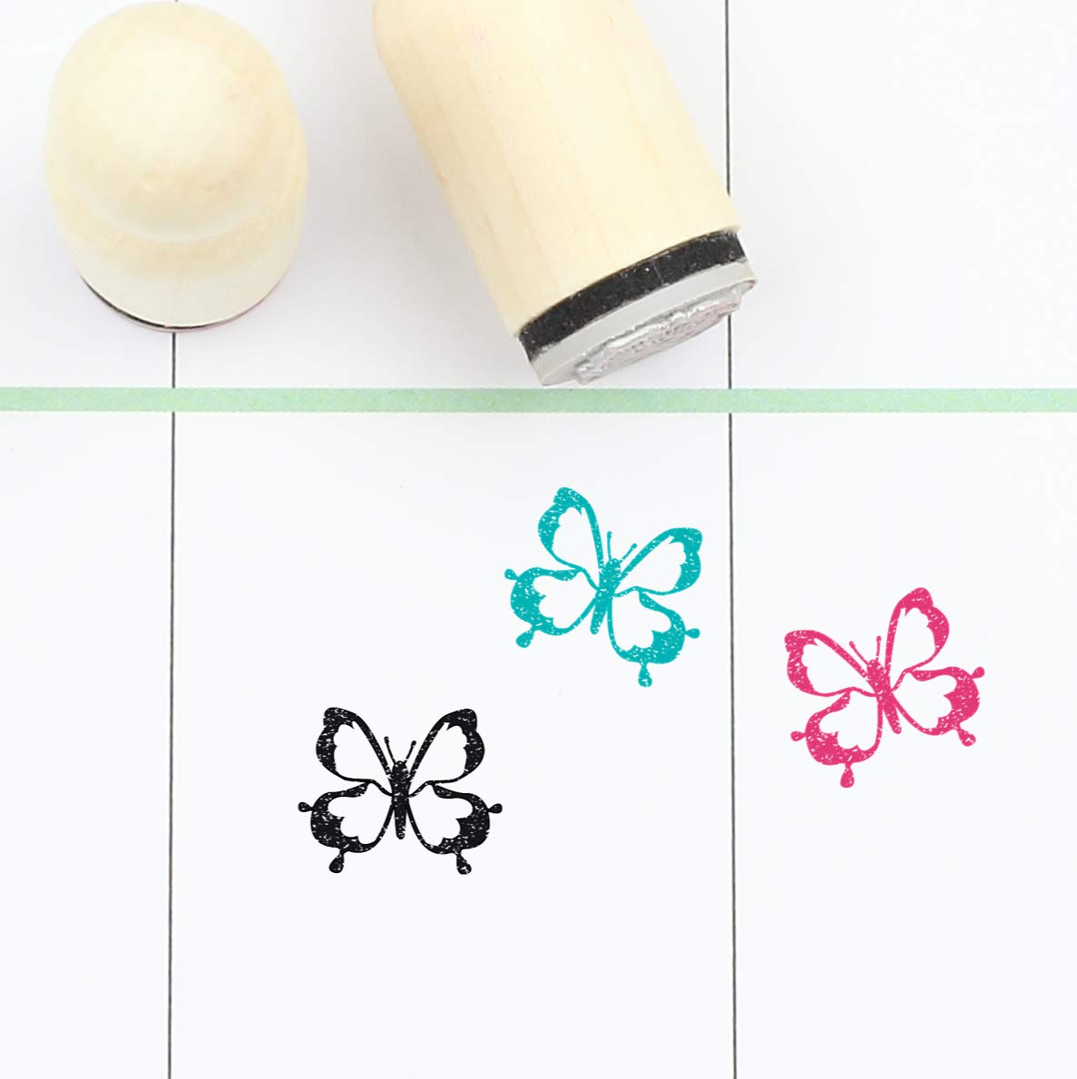 Insects Stamp 20mm Mini Stamps S147 Planner Stamp Butterfly Rubber Stamp 16mm