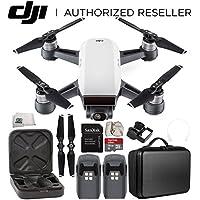DJI Spark Portable Mini Drone Quadcopter Essential Portable Bag Shoulder Travel Case Bundle (Alpine White)
