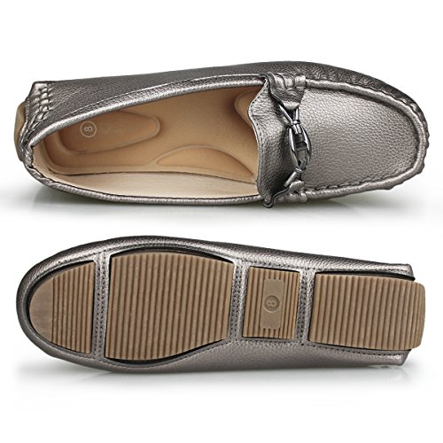 Women's Slip on Hawkwell Driving Comfort Loafer Shoes pewter 1905 OaqSUw