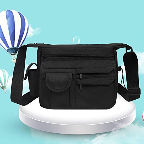 Teen Vintage Men Business Travel Black Bag Nylon Everpert Bags Casual Messenger Shoulder qFtgR