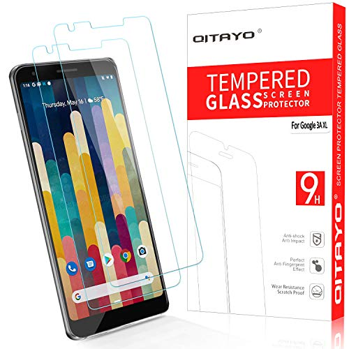 QITAYO Screen Protector for Google Pixel 3a XL, [HD Clear] [Bubble-Free][Case Friendly] Tempered Glass Screen Protector Compatible with Google Pixel 3a XL (Best Pixel Xl Glass Screen Protector)
