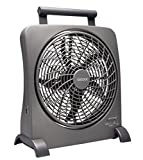 O2COOL® 10-Inch Portable Smart Power® Fan with AC Adapter & USB Charging Port