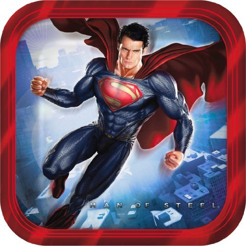 (Superman Man of Steel Small Paper Plates (8ct))