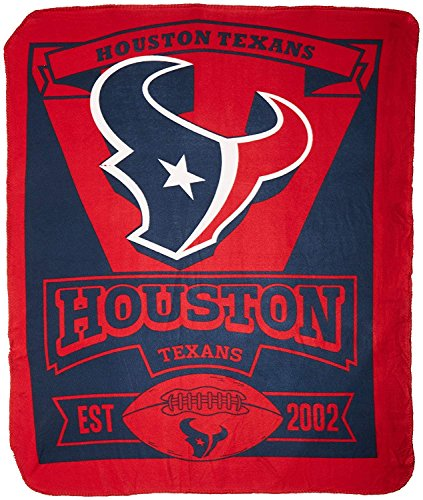 The Northwest Company NFL Houston Texans Marque Printed Fleece Throw, 50-inch by 60-inch