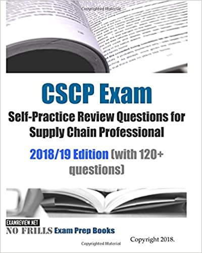 CSCP Exam Self Practice Review Questions For Supply Chain