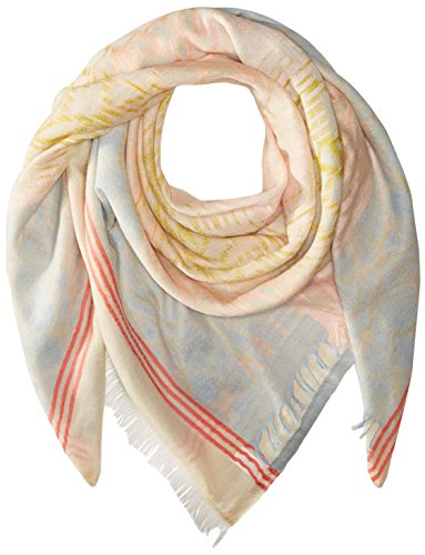 La Laque Square Scarf, White Sand, One Size