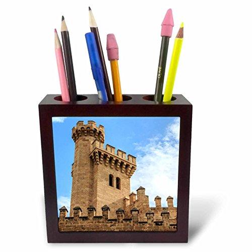 3dRose Danita Delimont - Castles - Spain, Balearic Islands, Mallorca, Palma de Mallorca, Almudaina palace - 5 inch tile pen holder (ph_277904_1) by 3dRose