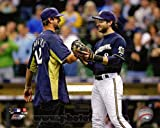 Ryan Braun (Milwaukee Brewers) Aaron Rodgers (Green Bay Packers) Photo 8x10