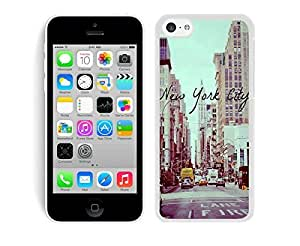 Case,Iphone,Amazon,Belt Clip and Case Combo,Vintage New York City iPhone 5/5s Case White Cover