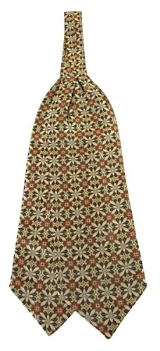 Historical Emporium Men's 100% Silk Geometric Pattern Ascot Gold]()