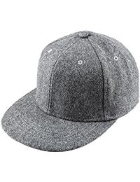 Unisex Woolen Baseball Cap,Adjustable Wide Brim Warm Snapback Hat