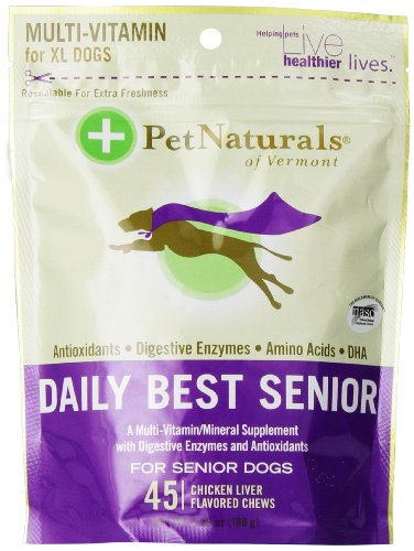 Pet Naturals of Vermont Daily Best Senior 45 Count Bone-Shaped Chews for Dogs