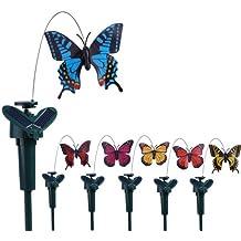 Vktech® Solar Powered Flying Fluttering Hummingbird Flying Birds/Butterfly Color At Random (Flying Butterfly)