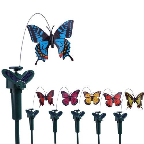 Vktech® Solar Powered Flying Fluttering Hummingbird Flying Birds/Butterfly Color At Random (Flying Butterfly) - Solar Butterfly