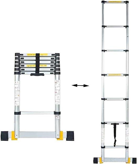 XSJZ Escaleras telescópicas Escalera Elevadora, Escalera Gruesa de Aleación de Aluminio, Cubierta Antideslizante para Los Pies, Escalera Multifuncional Portátil de Ingeniería de Juntas de Bambú Escale: Amazon.es: Hogar