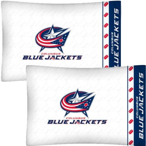 NHL Columbus Blue Jackets Hockey Set of 2 Logo Pillow Cases