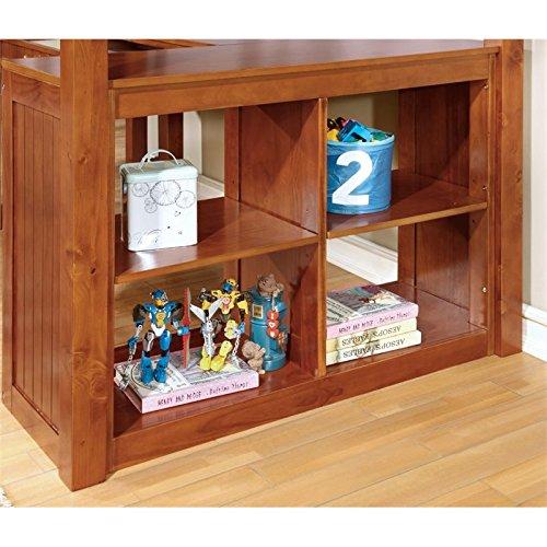 "Furniture of America IDF-BK265A Lavinia Bed + Work Station, 41.625"" x 80"" x 75"", Oak"