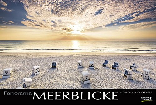 Meerblicke - Nord- und Ostsee 2018: Großer Foto-Wandkalender von der Küste und dem Meer in Deutschland. Edler schwarzer Hintergrund und Foliendeckblatt. PhotoArt Panorama Querformat: 58x39 cm.