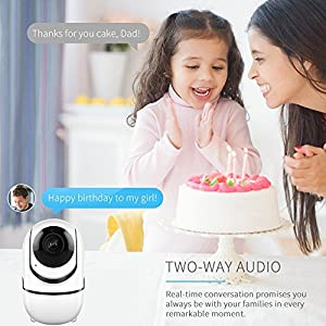 Wireless Security WiFi Camera,ANBAHOME IP Camera for Home Security Surveillance Baby/Pet Monitor with PTZ Two Way Audio Motion Detection Night Vision. iOS, Android App by Shen Zhen Shi Yi Fang Kong Jian Wen Hua Fa Zhan You Xian Gong Si