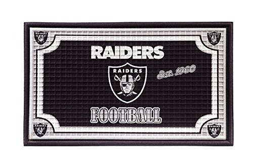 Oakland Mat Raiders Door (Team Sports America 41EM3822 Oakland Raiders Embossed Door Mat)