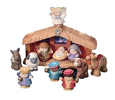 Fisher Price World of Little People Deluxe Christmas Story Belén de Navidad