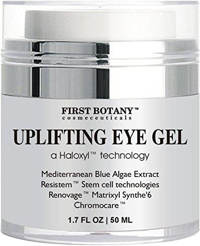 Anti aging Best Eye Cream : Eye Gel with Mediterranean Blue Algae Extract, Resistem, Chromocare, Renovage & Matrixylsynthe 6 - the best Formula 1.7 oz