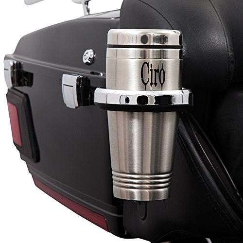 (Ciro 50521 Chrome Passenger Holder with Cup for 1996-2013 Harley-Davidson Ultra Models with Tour-Pak)