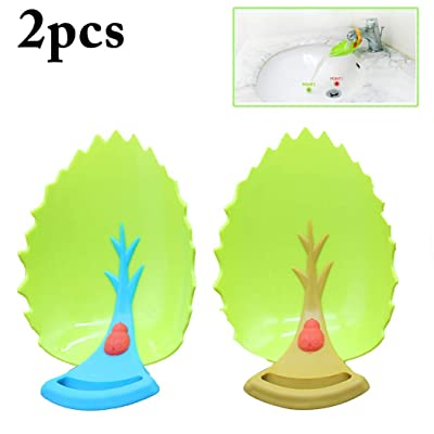2PCS Water Extender Beetle Leaves Shape Faucet Extender Faucet Cover for Kids: Toys & Games