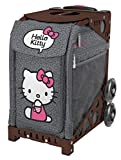 Zuca ''Hello Kitty Leopard'' Sport Insert Bag & Brown Frame with Flashing Wheels