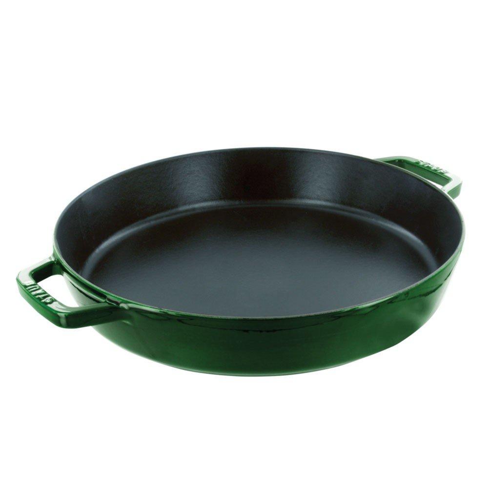 Staub Double Handle Fry Pan, Basil, 13''