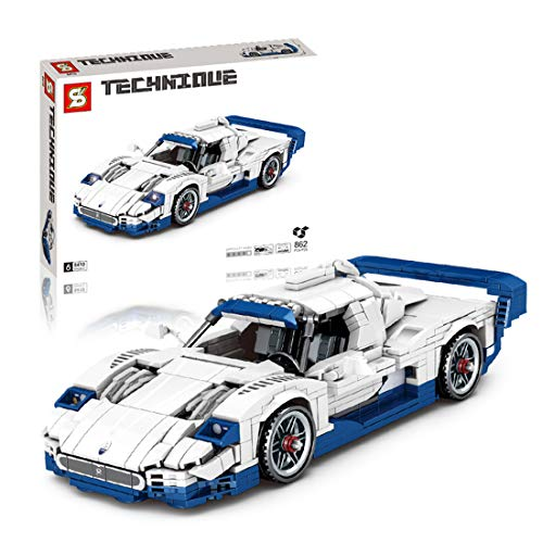 Ditzz Technic Sports Car Building Set, Pull Back Car Toy,Collectible Car Model, Building Blocks Compatible with LEGO…