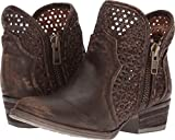 Circle G Women's Cut-Out Short Boot Round Toe Brown 9 M