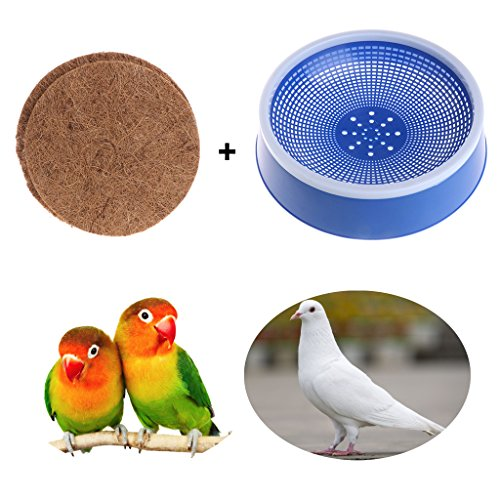 Qupida Pet Supplies Big Blue Plastic Dehumidification Bird Egg Basin Nest Bowl Mat For Racing Pigeon Breeding(NEST WITH MAT)